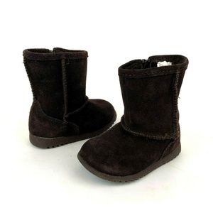 Circo Brown Suede Faux Fur Lined Winter Boots